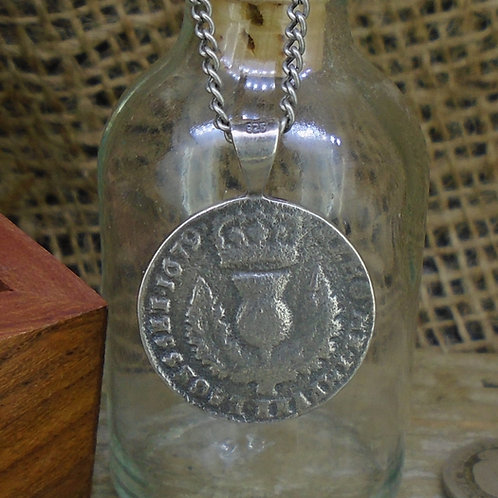 Bawbee Coin Sterling Silver Pendant