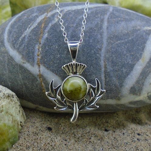 Scottish Thistle Sterling Silver Pendant