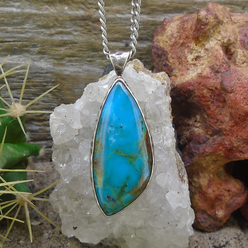 Campitos Turquoise Sterling Silver Pendant