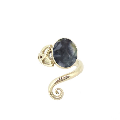 Skye Marble Celtic Trinity Ring