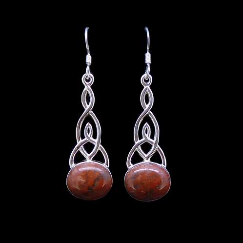 Lewisian Celtic Knot Sterling Silver Earrings