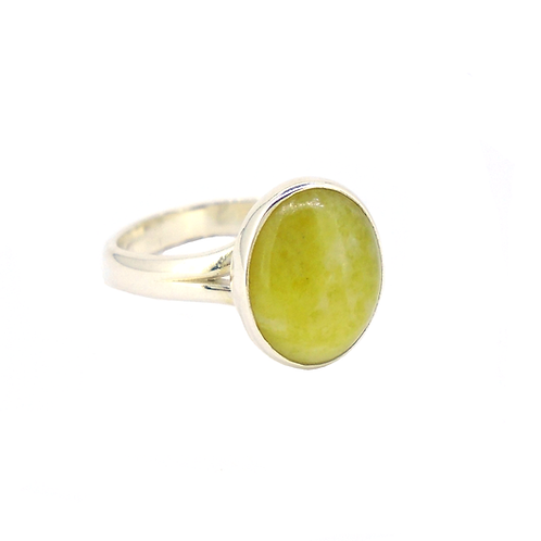 Highland Marble Small Oval Ring