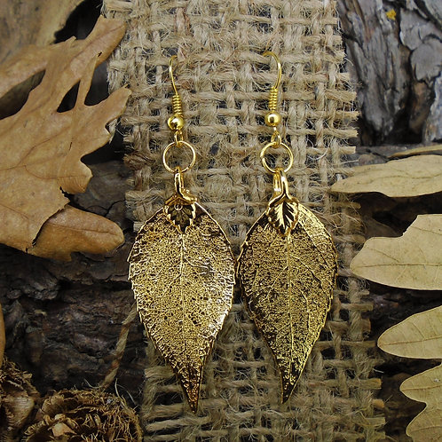 Laurel Leaf Earrings - Gold