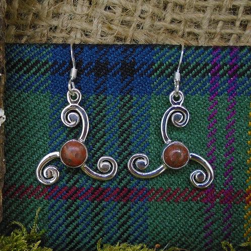 Lewisian Triskele Sterling Silver Earrings