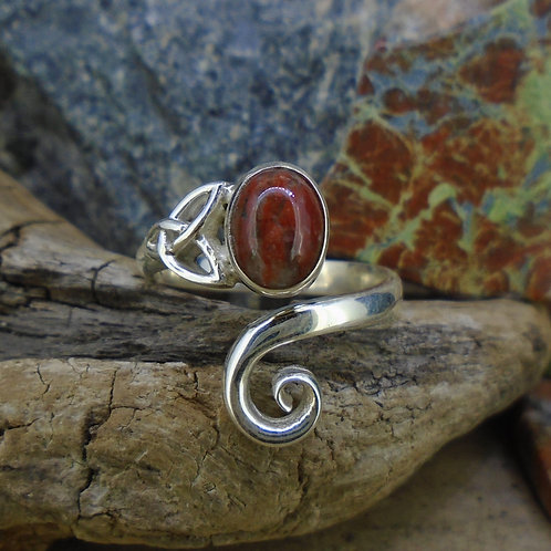 Lewisian Celtic Trinity Swirl Sterling Silver Ring