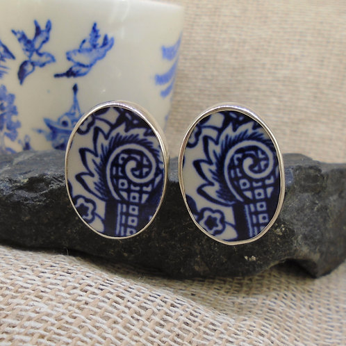 Old Willow Sterling Silver Cufflinks