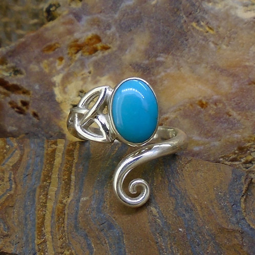 Turquoise Sterling Silver Celtic Ring