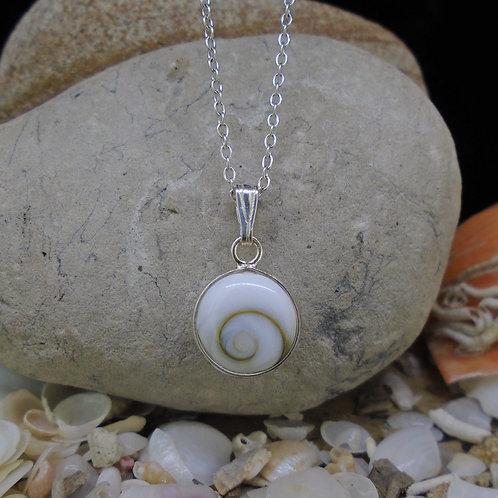 Shiva Eye Shell Sterling Silver Pendant