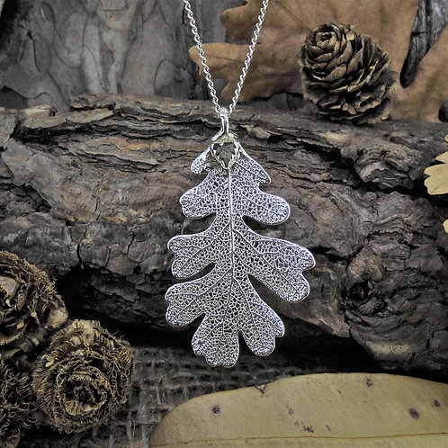 Oak Leaf Pendant - Silver (Medium)