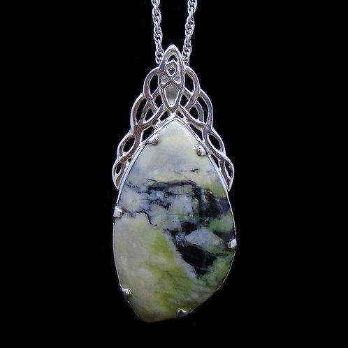 Skye Marble Celtic Cascade Sterling Silver Pendant