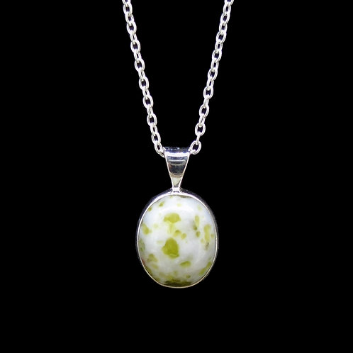 Wee Iona Marble Sterling Silver Pendant