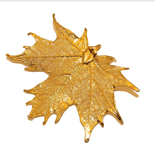 Canadian Maple Gold Pendant