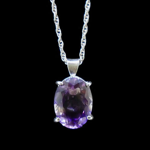 Amethyst Sterling Silver Pendant