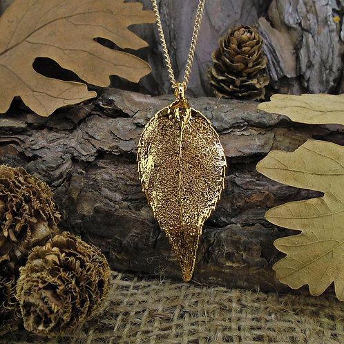 Laurel Leaf Pendant - Gold (Medium)