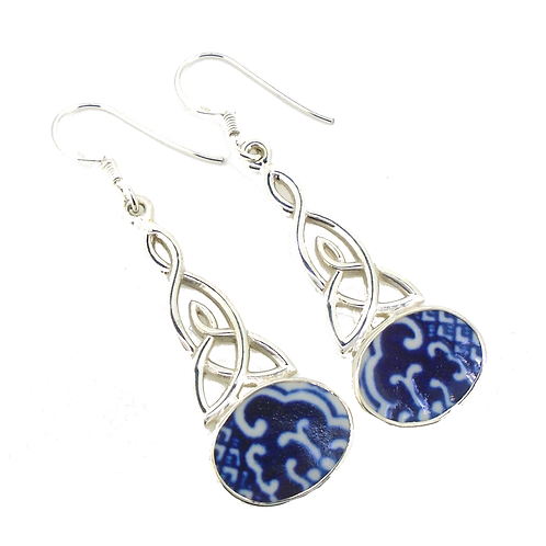 Old Willow Large Celtic Trinity Earrings