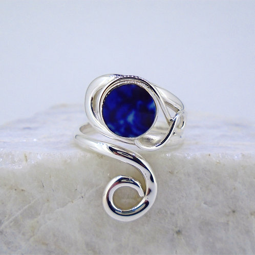 Old Willow Sterling Silver Adjustable Twist Ring