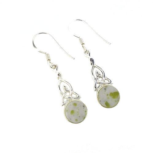 Iona Marble Small Celtic Trinity Earrings