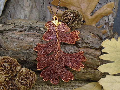 Oak Leaf Pendant - Red Copper (Large)