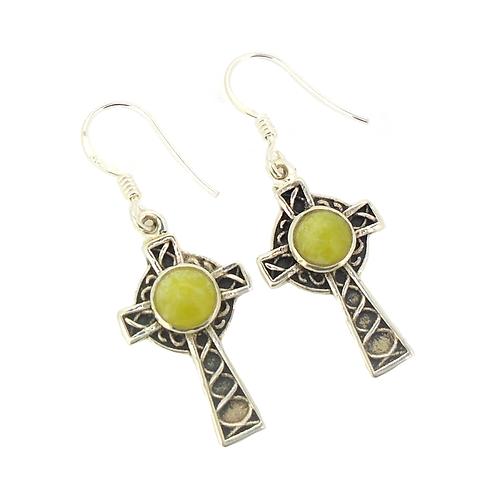 Highland Marble Celtic Cross Earrings