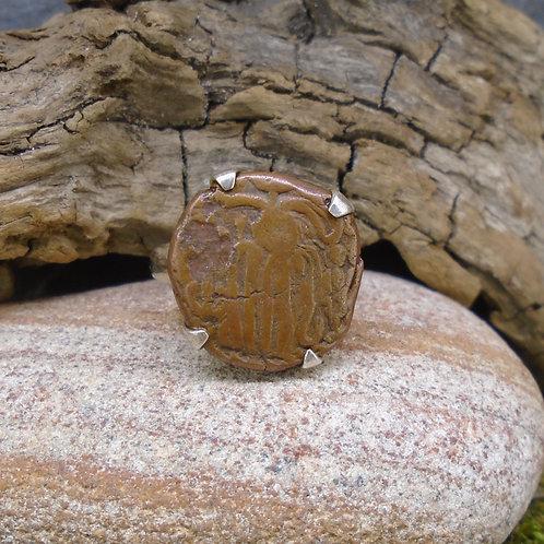 Raja Chola Empire Coin Sterling Silver Ring