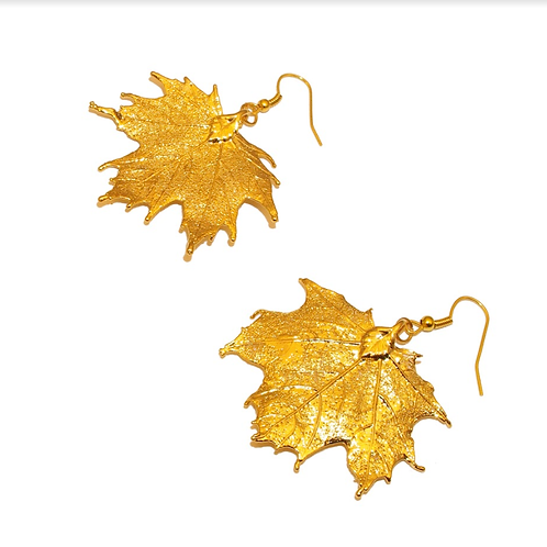 Canadian Maple Gold Earrings
