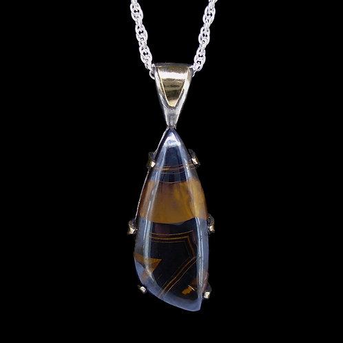 Haddington Tiger's Eye 18 Carat Gold & Sterling Silver Pendant