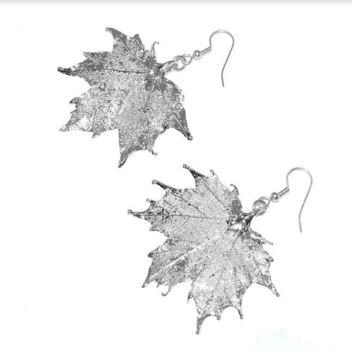 Canadian Maple Silver Earrings