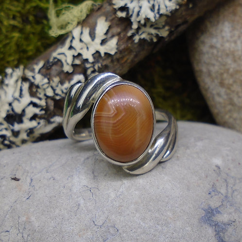 Scottish Agate Sterling Silver Ring