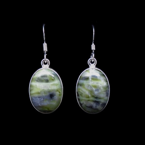 Skye Marble Sterling Silver Oval Earrings