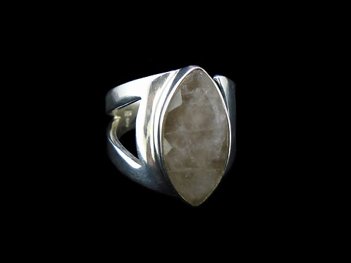 Cairngorm Quartz Sterling Silver Ring