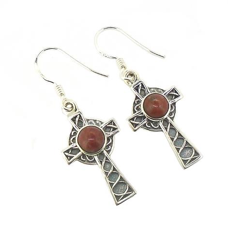 Lewisian Celtic Cross Earrings