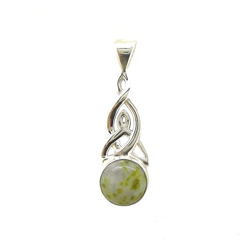 Iona Marble Small Celtic Trinity Pendant