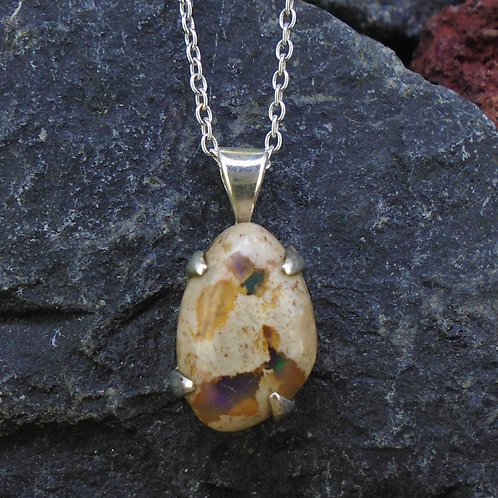Mexican Opal Sterling Silver Pendant
