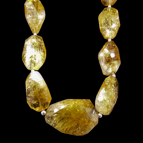 Whisky Citrine Showstopper Necklace