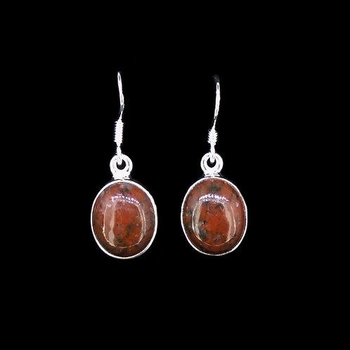 Lewisian Sterling Silver Drop Earrings