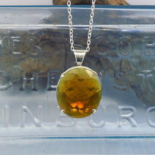 Edinburgh Sea Glass Sterling Silver Pendant