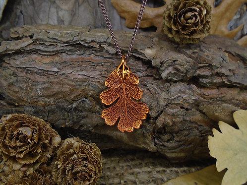 Oak Leaf Pendant - Red Copper (Small)
