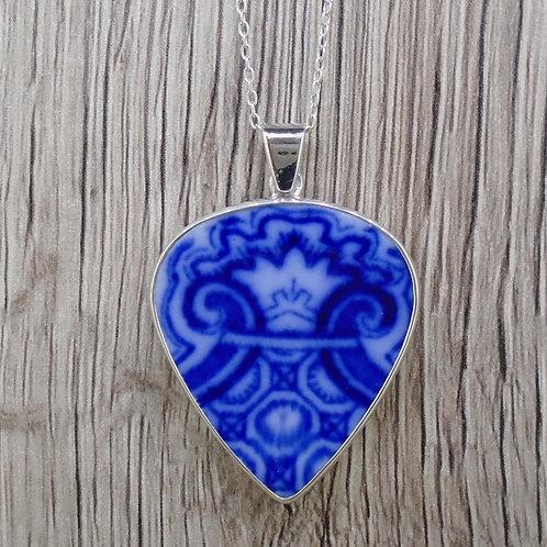 Flow Blue 'Royal' Sterling Silver Pendant