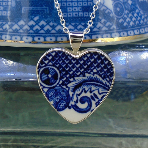 Old Willow Sterling Silver Heart Pendant