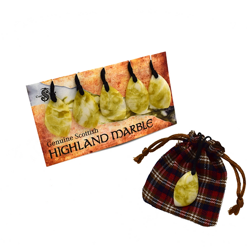 Highland Marble Pendants (Cord) Pack of 5