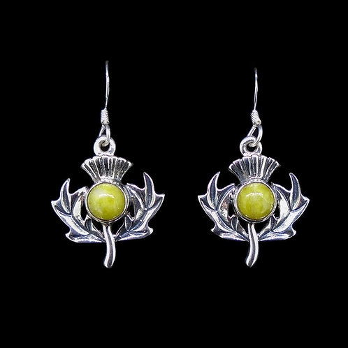 Scottish Thistle Sterling Silver Earrings
