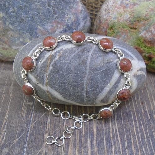 Scottish Lewisian Sterling Silver Adjustable Bracelet