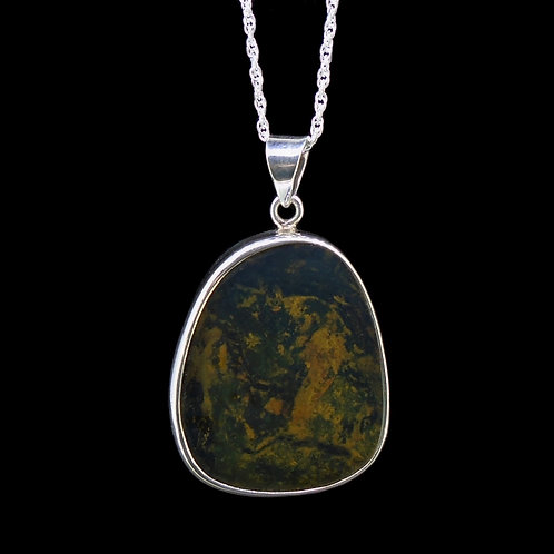 Dominican Blue Amber Sterling Silver Pendant