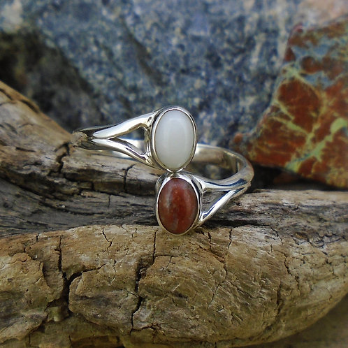 Lewisian & Iona Marble Twist Sterling Silver Ring