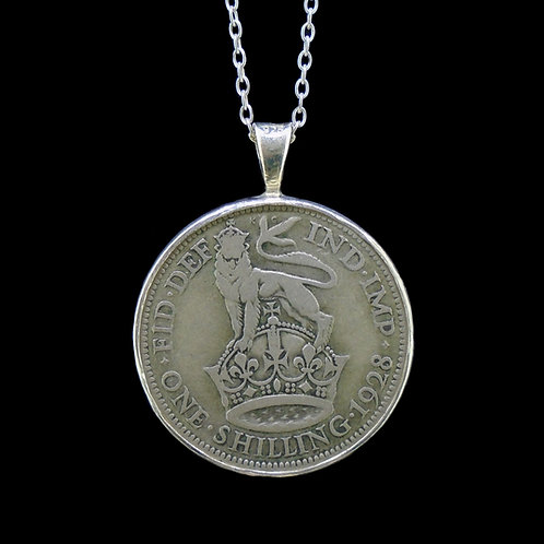 One Shilling  Sterling Silver Pendant