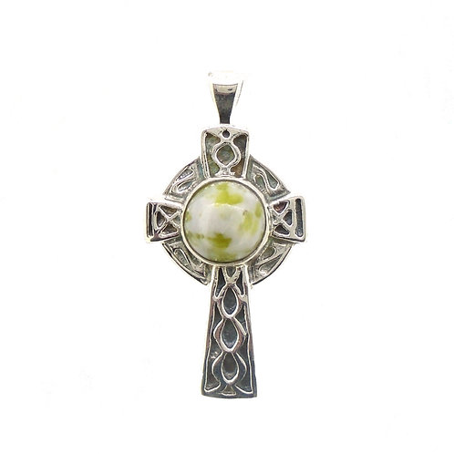 Iona Marble Celtic Cross Pendant
