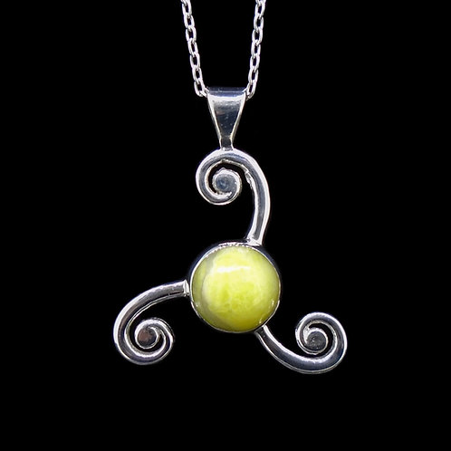 Pictish Triskele Sterling Silver Pendant