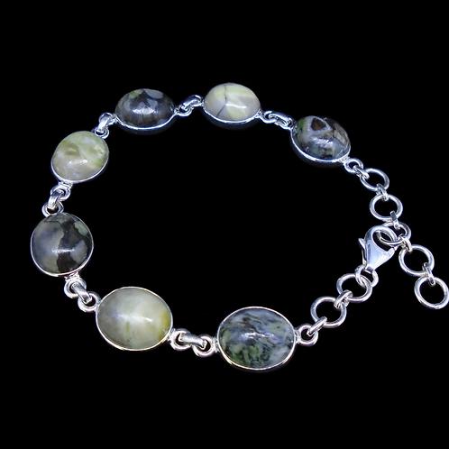 Skye Marble Sterling Silver Adjustable Bracelet