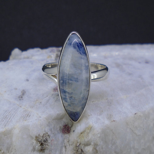 Blue Moonstone Sterling Silver Ring