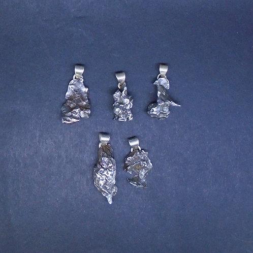 5 x Meteorite Pendants, Sterling Silver Bails